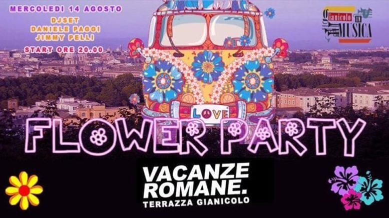 Flower Party Sulla Terrazza Del Gianicolo Roma E Dintorni
